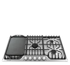 Simmer Plate For Gas Cooktop Frigidaire Professional 36 U0027 U0027 Gas Cooktop With Griddle Stainless