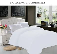 elegant comfort goose down alternative 1pc solid white comforter