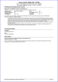 Examples Of Nurse Resumes by Incredible Inspiration Travel Nurse Resume 15 Sample Travel