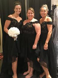 black bridesmaid dresses buy high low the shoulder black tulle bridesmaid dress with