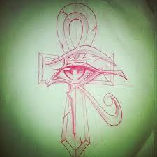 ink eye of horus ankh design guitar ideas