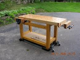 Building Woodworking Bench Homemade Woodworking Workbench Homemadetools Net