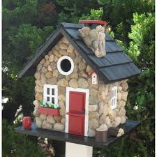 amazon com wood outdoor yard hanging wooden bird house hotel