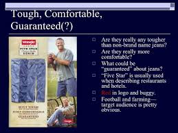 Wrangler Real Comfortable Jeans Masculinity Myth Group Example