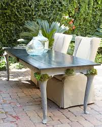 Patio Dining Table Expandable Concrete Outdoor Dining Table