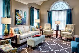 quatrefoil rug living room transitional with blue and green room