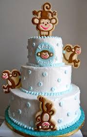 oh sugar events monkey shower cake