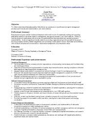 resume summary statement exles management goals resume exles templates great professional exle of resume