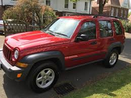 red jeep liberty jeep cherokee sport 2 8 crd 2006 56 red 45000 miles 4x4 in