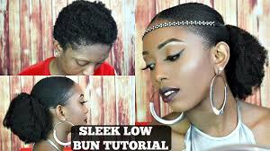 pics of black pretty big hair buns with added hair bomb sleek low bun on short 4c natural hair tutorial youtube