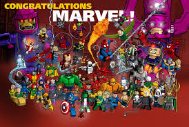 ▷ Marvel 75th Anniversary  Le poster LEGO Marvel Super Heroes en