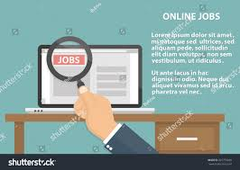 Design A Desk Online by Online Job Searching Concept Laptop On Stock Vector 325753208