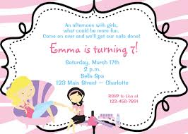 spa birthday party invitation nail party manicure party spa