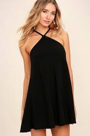 black shift dress cool black dress shift dress halter dress 44 00