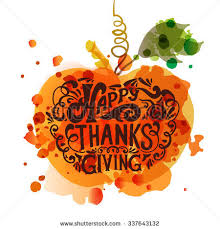 watercolor design happy thanksgiving day stock vector