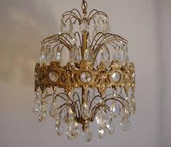 Antique Chandeliers Ebay by Vintage Crystal Prism Waterfall Chandelier 6 Tier 6 Lights