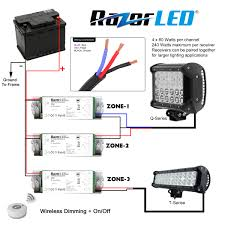 Jeep Wrangler Led Light Bar by Cree Light Bar Wiring Diagram How To Wire Led Light Bar To High