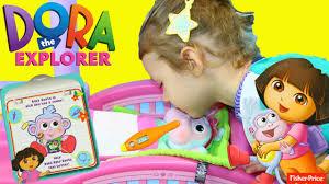 dora the explorer hospital baby boots check up dr sandra