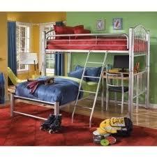 Loft Bed Frame With Desk Metal Bunk Bed With Desk Foter