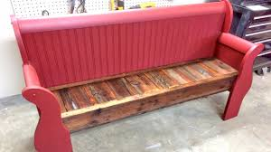 furniture chic repurposed bench with antique and unique styles furniture eye catching red color paint and wood material for repurposed bench on simple floor