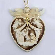 nativity heart ornament holy family christmas tree ornaments