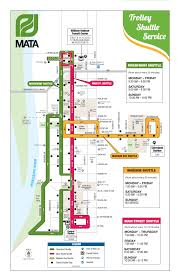 Mall Of America Parking Map by Trolley Shuttles Getting Around Downtown Memphis
