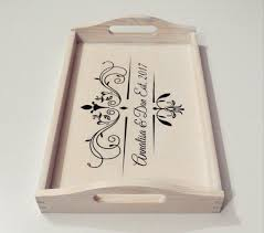 personalized serving dishes breakfast tray personalized serving trays white stain