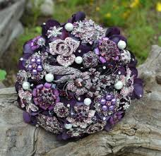 purple bouquets purple and green brooch bridal brooch bouquet archives weddings