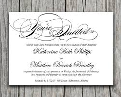 modern calligraphy wedding invite microsoft word template black