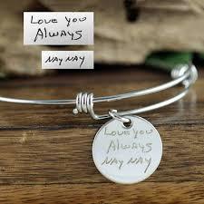 memorial bracelets for loved ones bracelets handwriting artwork