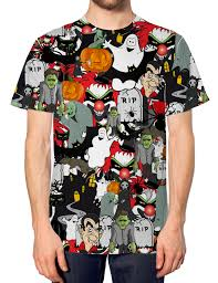 halloween all over t shirt funny spooky scary witch fancy dress
