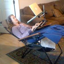 laptop swivel and tilt stand laptop table for recliner chair