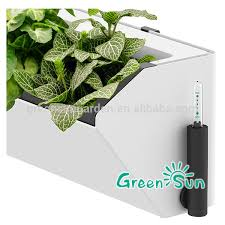 Watering Vertical Gardens - vertical garden wall planter with water indicator living wall