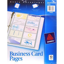 avery 76009 business card binder pages 20 2 x 3 1 2 cards page
