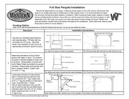 full size pergola kit installation western timber frame