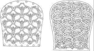 cm type patterns with palmette motifs are the favourite adornations