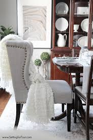 White Dining Room Table by Best 25 Upholstered Dining Room Chairs Ideas On Pinterest