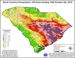 Rainfall Totals Map Home Disaster Recovery Libguides At South Carolina State Library