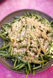 pescatarian thanksgiving recipes recipe lemony green beans with almond breadcrumbs kitchn