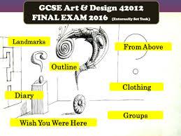 Art And Design Gcse Aqa Art And Design Gcse 2016 Exam Presentation 42012 Unit 2