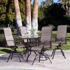 Patio High Dining Set Pubtyle Patio Furniture Bar Height Outdoor Dining Table Highet