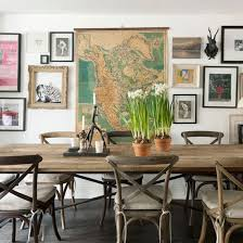 themed dining room explorer trend rustic table vintage maps and room