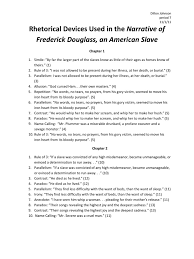 rhetorical devices used in the narrative of frederick douglass