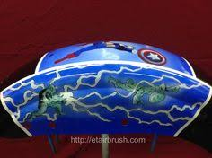 painted by et airbrush with house of kolor orion silver base with