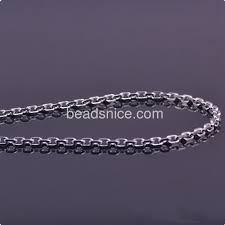 Wholesale Jewelry Making - wholesale fashion jewelry chain silver oval chains classic style