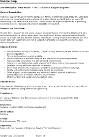 Resume Sample Technical Support by Technical Support Engineer Resume Sample Free Resume Example And