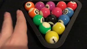 how to put a pool table together how to put pool table balls correctly in a triangle youtube