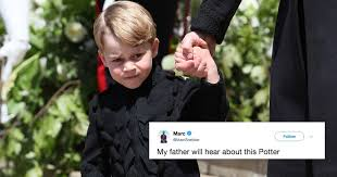 George Meme - this photo of prince george at the royal wedding has officially got