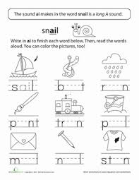 long vowels long a in train long vowels worksheets and first grade