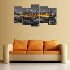 aliexpress com buy 5 panels canvas print thailand golden temple